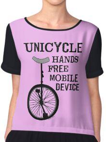Mobile Device Bold Chiffon Top