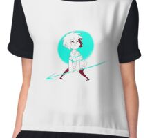 Frisk with Undyne's spear Chiffon Top