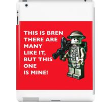 My mate Bren by Tim Constable iPad Case/Skin