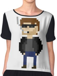 Pixel Hank Moody Chiffon Top
