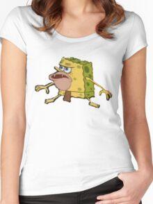 Caveman/Prehistoric Spongebob Meme Women's Fitted Scoop T-Shirt