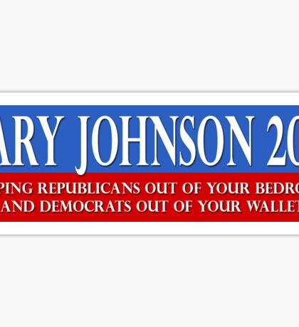 Libertarian Gary Johnson for President 2016 Sticker