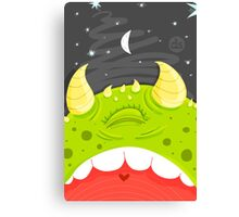 Moonlit Monster Canvas Print