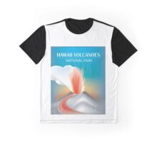 Hawaii Volcanoes National Park- Skyline Illustration By Loose Petals Graphic T-Shirt
