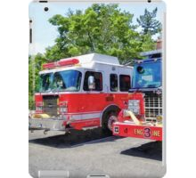 Two Fire Engines in Front of Firehouse iPad Case/Skin