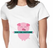 Happy Pig Womens Fitted T-Shirt
