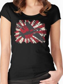 Japan Navy WW2 Pacific War Women's Fitted Scoop T-Shirt