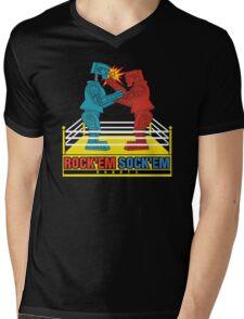 Rock'em Sock'em - 2D Original Punch Variant Mens V-Neck T-Shirt
