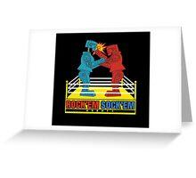 Rock'em Sock'em - 2D Original Punch Variant Greeting Card