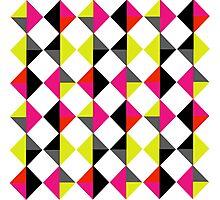 Modern Geometric Bold Color Block Diamond Pattern Photographic Print