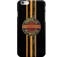 Vintage Chrysler Plymouth stripes iPhone Case/Skin
