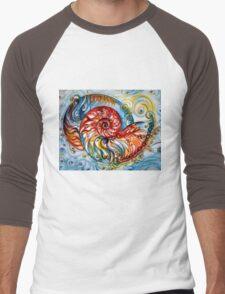 Nautilus Shell - Ocean Men's Baseball ¾ T-Shirt