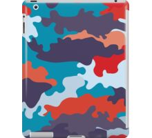 Bright blue color style camouflage pattern iPad Case/Skin