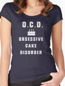 O.C.D. - Obsessive Cake Disorder Women's Fitted Scoop T-Shirt