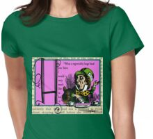 Alice in Wonderland and Through the Looking Glass Alphabet H Womens Fitted T-Shirt