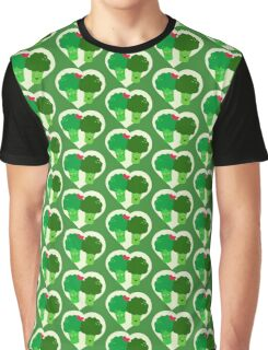 Broccoli in Love Graphic T-Shirt
