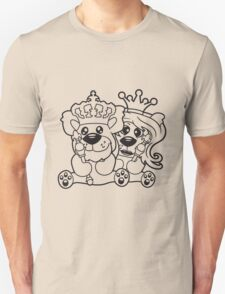 king queen couple couple love love prince princess crown old opa zepter Teddy Bear comic cartoon sweet cute T-Shirt
