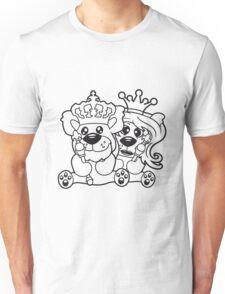 king queen couple couple love love prince princess crown old opa zepter Teddy Bear comic cartoon sweet cute Unisex T-Shirt