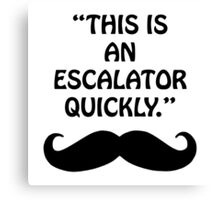 """This is an escalator quickly."" Canvas Print"