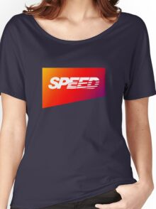 SpeedHunters - Gradient ''Speed'' Logo Women's Relaxed Fit T-Shirt