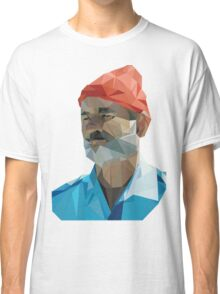 The Life Aquatic with Steve Zissou geometric low poly portrait - Bill Murray Classic T-Shirt