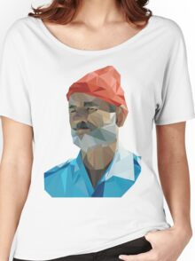 The Life Aquatic with Steve Zissou geometric low poly portrait - Bill Murray Women's Relaxed Fit T-Shirt