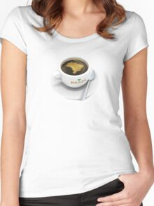 coffee cup with the map of Brazil Women's Fitted Scoop T-Shirt