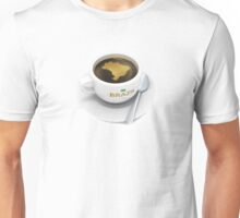 coffee cup with the map of Brazil Unisex T-Shirt