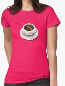 coffee cup with the map of Italy Womens Fitted T-Shirt