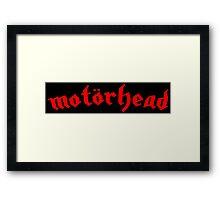 Motorhead - Red Framed Print