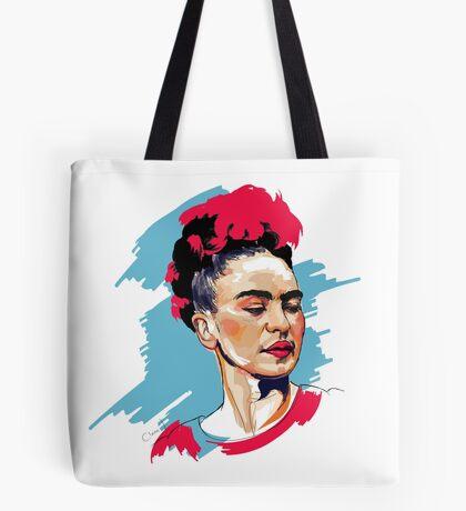 Colored Frida Tote Bag