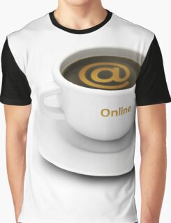coffee cup with Internet cafe or online services symbol Graphic T-Shirt