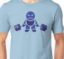 Cute Weightlifting Robot - Deadlift (Dark Blue) Unisex T-Shirt