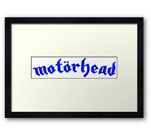 Motorhead - Blue Framed Print