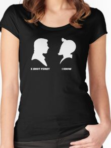 I Shot First Women's Fitted Scoop T-Shirt