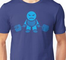 Cute Weightlifting Robot - Deadlift (Blue) Unisex T-Shirt
