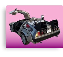 Delorean Canvas Print