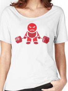 Cute Weightlifting Robot - Deadlift (Red) Women's Relaxed Fit T-Shirt