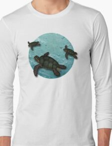 All Three Together Seaturtle Art Long Sleeve T-Shirt