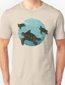 All Three Together Seaturtle Art Unisex T-Shirt