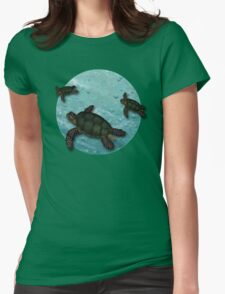 All Three Together Seaturtle Art Womens Fitted T-Shirt