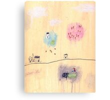 Eva Luna's tulip garden Canvas Print