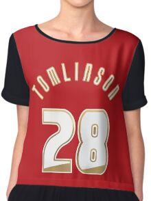 Louis Tomlinson's 28 Jersey Chiffon Top