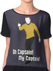 Oh Captain! My Captain! - James T. Kirk - Star Trek Chiffon Top