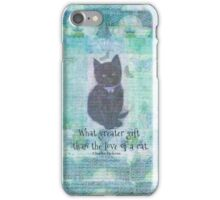 Cat quote by Charles Dickens iPhone Case/Skin
