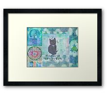 Cat quote by Charles Dickens Framed Print