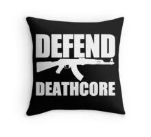 Defend Deathcore - White Throw Pillow