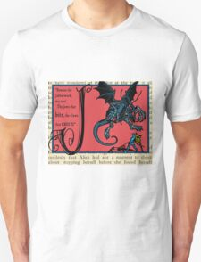 Alice in Wonderland and Through the Looking Glass Alphabet J Unisex T-Shirt