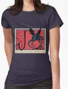 Alice in Wonderland and Through the Looking Glass Alphabet J Womens Fitted T-Shirt