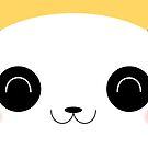 Peekaboo - Happy Kawaii Panda Card Version by Lisa Marie Robinson